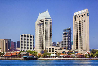 Manchester Grand Hyatt San Diego Poster by Photographic Art by Russel Ray Photos