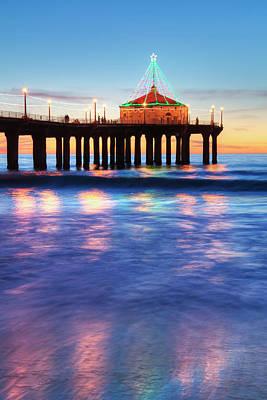 Manhattan Beach Pier At Sunset Poster