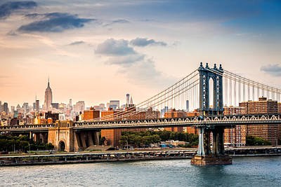 Manhattan Bridge Poster by Mihai Andritoiu