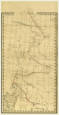 Map, Personal Narrative Of A Journey From India To England Poster