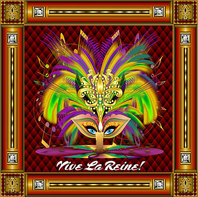 Mardi Gras Queen Style 2 Vector Sample Poster by Bill Campitelle