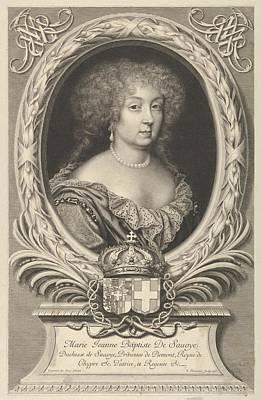 Marie Jeanne Baptiste De Savoie-nemours Poster by Robert Nanteuil