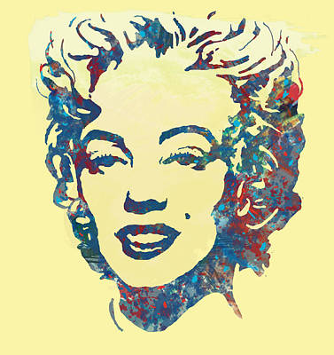 Marilyn Monroe Stylised Pop Art Drawing Sketch Poster Poster
