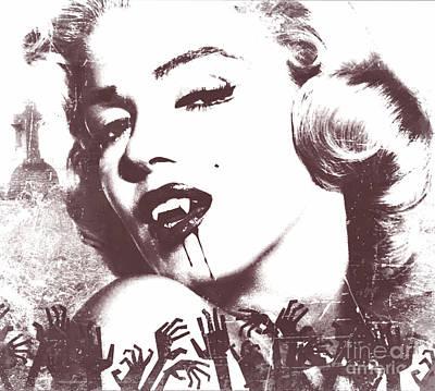Marilyn Monroe Vampire Poster