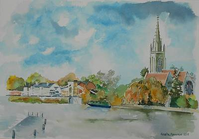 Marlow On Thames Poster by Geeta Biswas