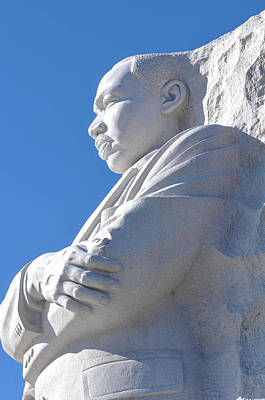 Martin Luther King Statue Poster