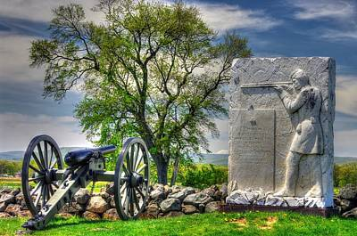 Massachusetts At Gettysburg - 1st Andrews Sharpshooters Unattached Mass. Vol. Infantry Hancock Ave Poster by Michael Mazaika