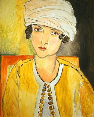 Matisse's Lorette With Turban And Yellow Jacket Poster