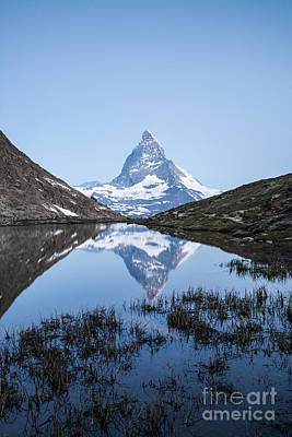 Matterhorn Reflected In Riffelsee Lake At Sunrise Poster