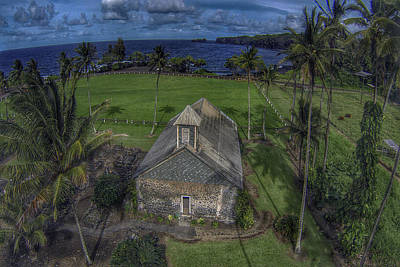 Maui Church Poster by James Roemmling