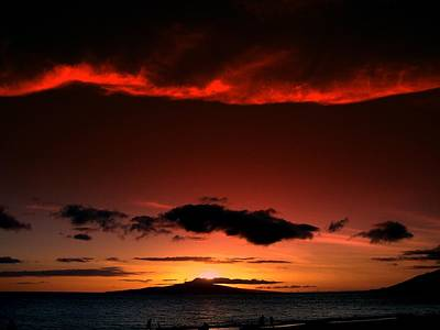 Maui Sunset Poster by Ron Roberts