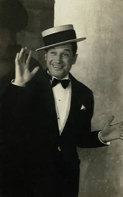 Maurice Chevalier Wearing A Boater Hat Poster