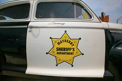 Mayberry Sheriffs Department Police Car Poster