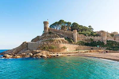 Medieval Castle In Tossa De Mar Spain Poster