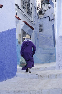 Medina In Chefchaouen Morocco Poster by Martin Turzak