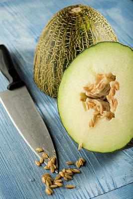 Melon Cut In Half Poster
