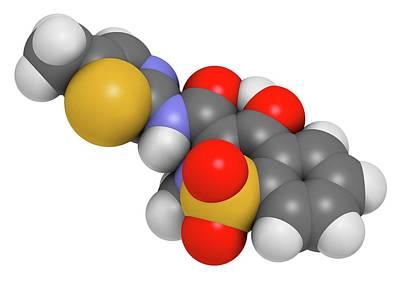 Meloxicam Nsaid Drug Molecule Poster