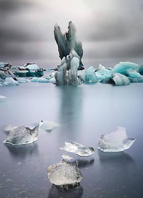 Melting Glacier Ice Iceland Poster by Dirk Ercken