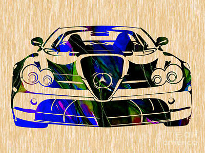 Mercedes Painting Poster