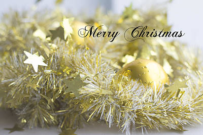 Poster featuring the photograph Merry Christmas by Jocelyn Friis