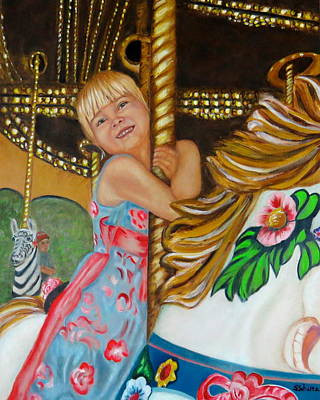 Poster featuring the painting Merry-go-round by Sharon Schultz