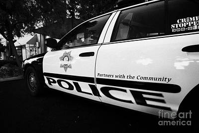 metro metropolitan police squad patrol police car Las Vegas Nevada USA Poster