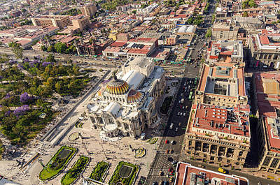 Mexico City Aerial View Poster
