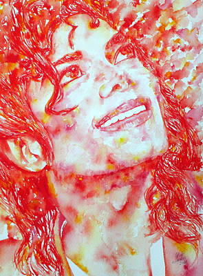 Michael Jackson - Watercolor Portrait.2 Poster by Fabrizio Cassetta