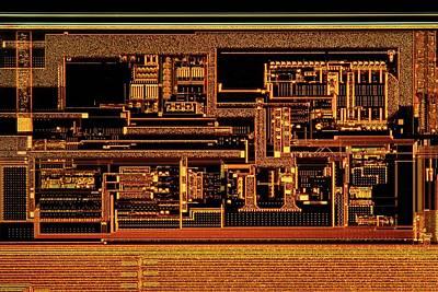 Microprocessor Clock Driver Poster by Antonio Romero