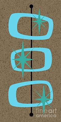 Mid Century Modern Shapes 1 Poster by Donna Mibus