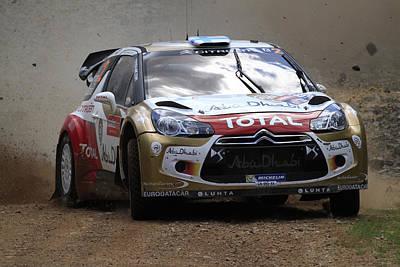 Mikko Hirvonen Fia World Rally Championship Australia Poster by Noel Elliot