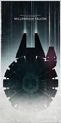 Millennium Falcon Poster by Baltzgar
