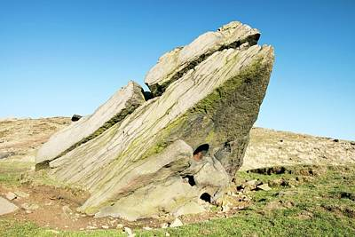 Millstone Grit Boulder Poster by Ashley Cooper