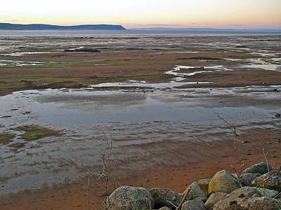 Minas Basin At Dusk In Fundy Bay Near Grand Pre-ns Poster by Ruth Hager