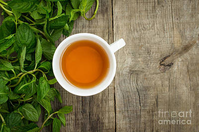 Mint Tea Poster by Aged Pixel