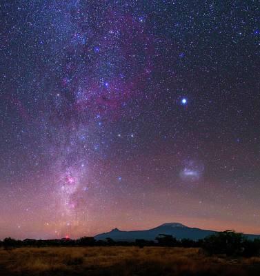 Mliky Way And Large Magellanic Cloud Poster