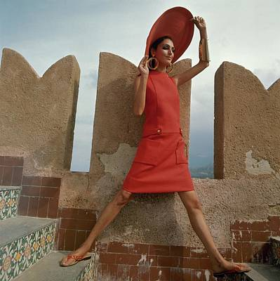 Model At The Castello San' Nicola Poster