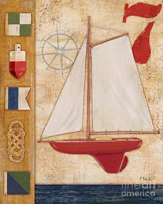 Model Yacht Collage II Poster