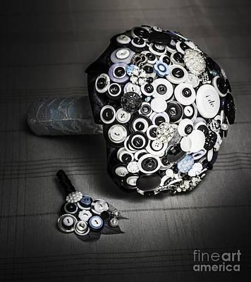 Modern Button Design Wedding Bouquet Poster by Jorgo Photography - Wall Art Gallery