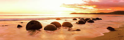 Moeraki Boulders On The Beach Poster by Panoramic Images
