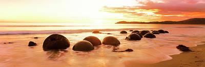 Moeraki Boulders On The Beach Poster