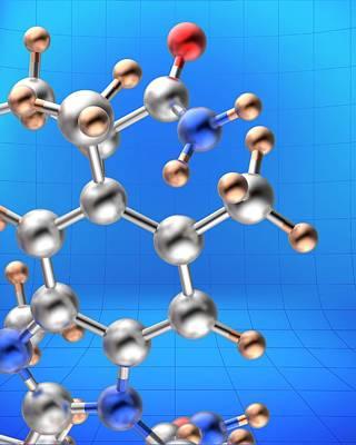 Molecule Poster by Alfred Pasieka