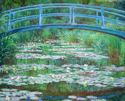 Poster featuring the photograph Monet's The Japanese Footbridge by Cora Wandel