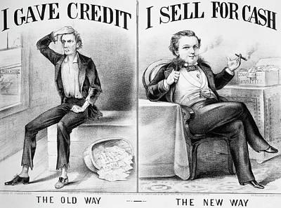 Money Lending, 1870 Poster