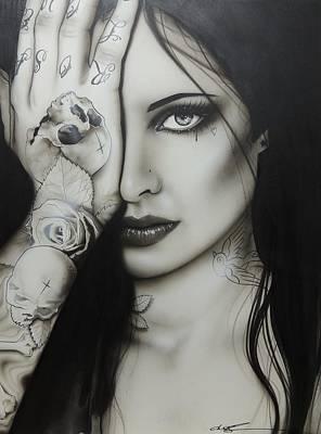 Portrait - ' Monochromatic Rosa ' Poster