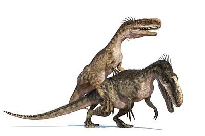 Monolophosaurus Dinosaurs Mating Poster