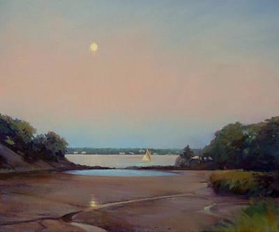 Moonlight Sail Poster by Dianne Panarelli Miller