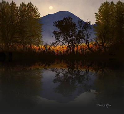 Moonlit Mountain Meadow Poster
