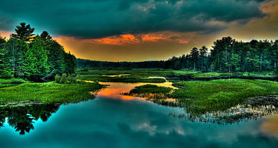Moose River Sunset Poster by David Patterson