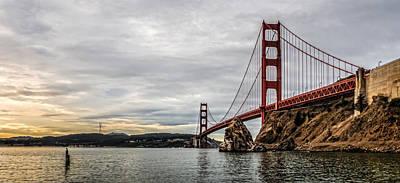 Morning Gold On The Golden Gate Poster